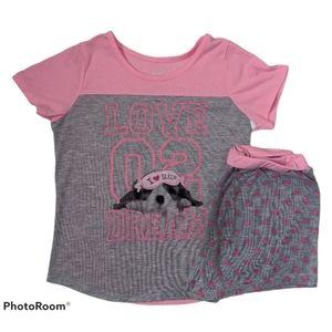 Wonder Nation Girls Pajama Set Size Large